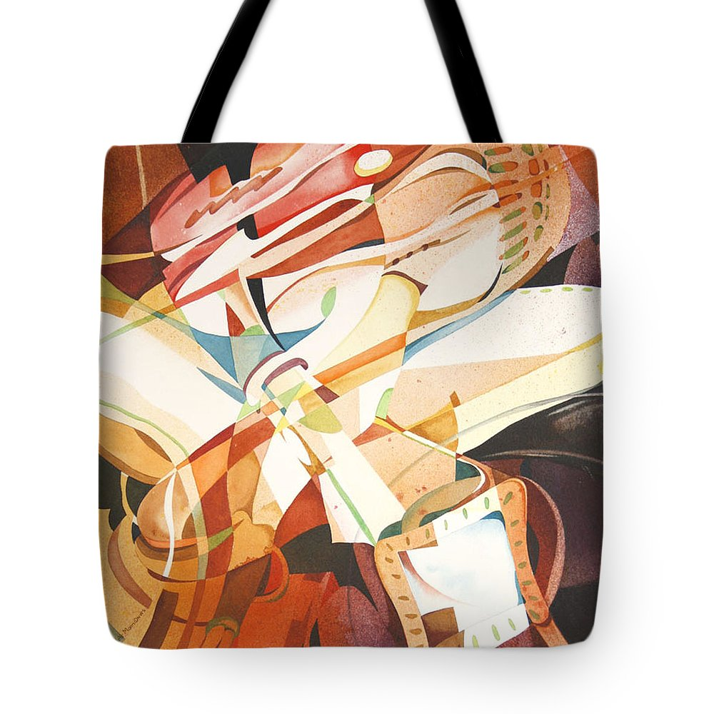 Abstraction Tote Bag featuring the painting The Color Red by Joye Moon