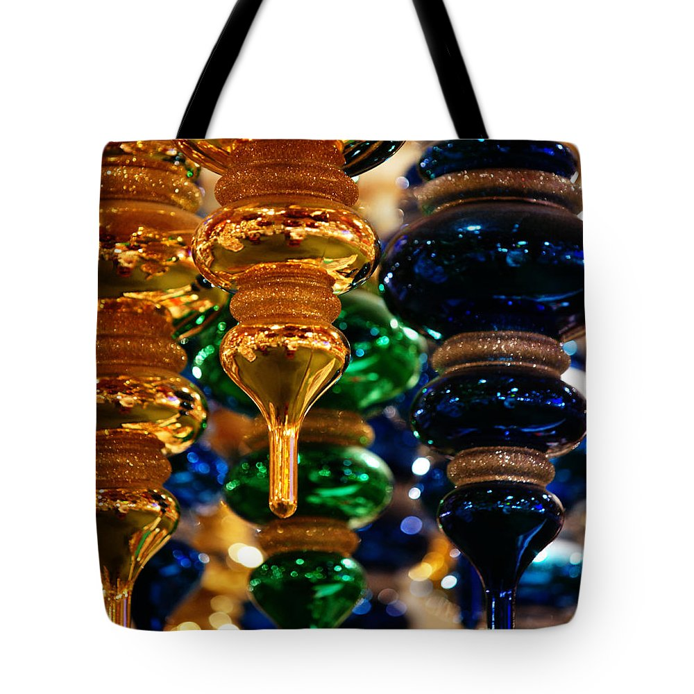 Christmas Tote Bag featuring the photograph The Colors Of Christmas by Linda Shafer