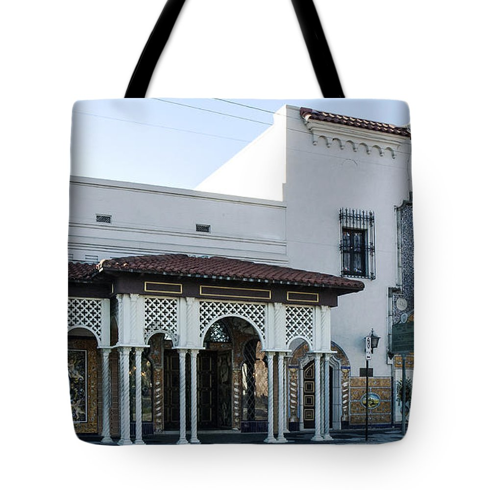 Columbia Restaurant Tote Bag featuring the photograph The Columbia by Norman Johnson