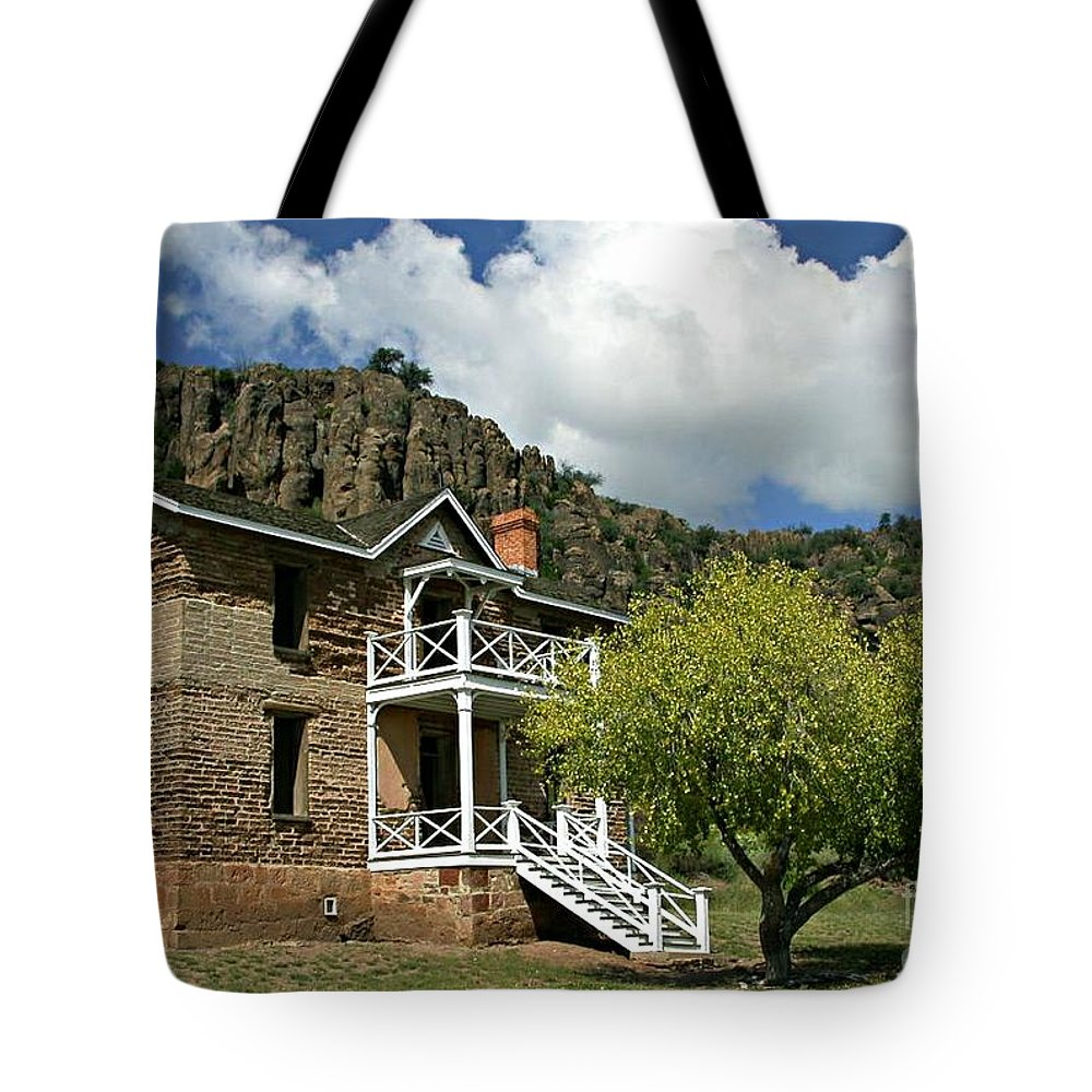 Don Tote Bag featuring the painting The Commandants Quarters by Don Wright