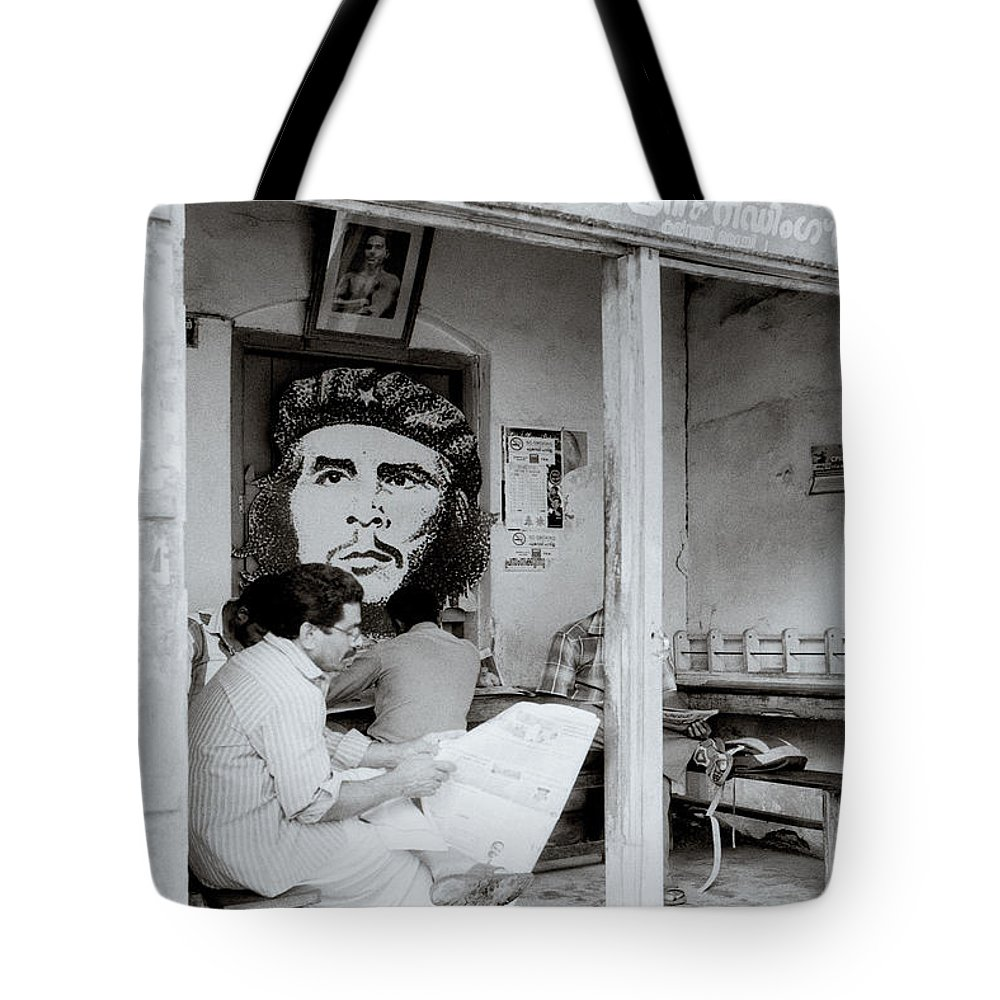 Che Guevara Tote Bag featuring the photograph The Reading Room by Shaun Higson