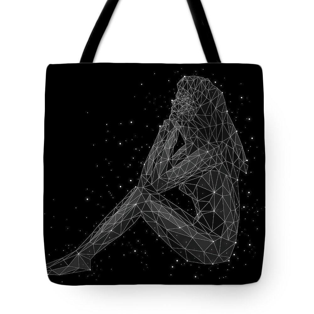 People Tote Bag featuring the digital art The Constellation Of Virgo by Malte Mueller