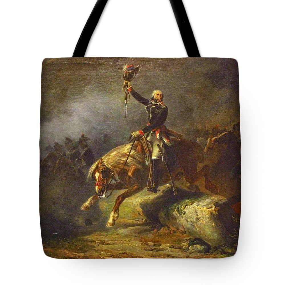 Nicolas Toussaint Charlet - The Conventional Merlin De Thionville In The Army Of The Rhine 1843 Tote Bag featuring the painting The Conventional Merlin De Thionville In The Army Of The Rhine by Celestial Images