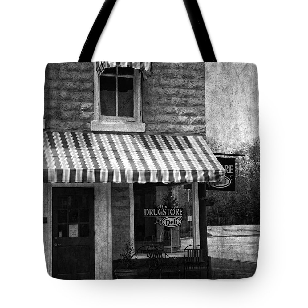 Building Tote Bag featuring the photograph The Corner Deli by Kim Hojnacki