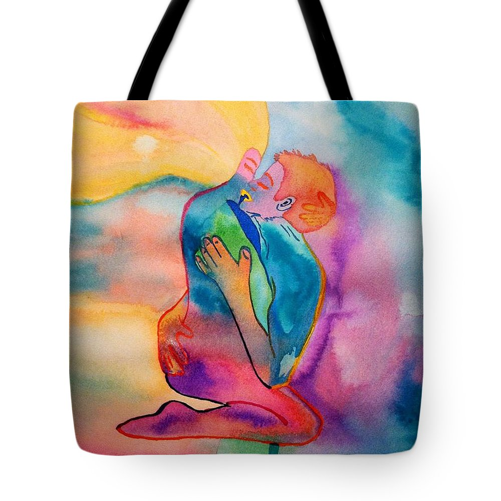 Couple Tote Bag featuring the painting The Couple Image 2 by Melissa Darnell Glowacki