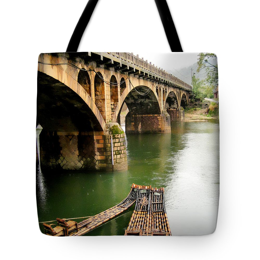 2006 Tote Bag featuring the photograph The Crossing by James Wheeler