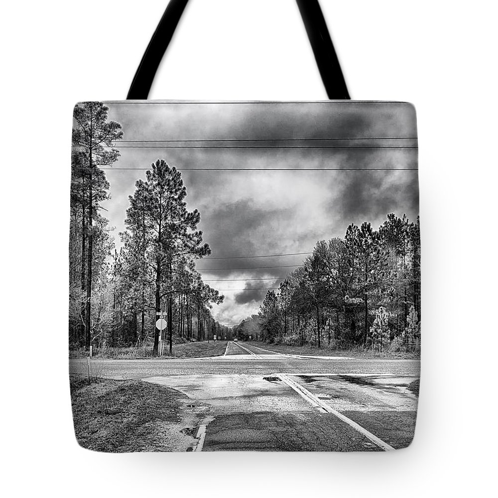 Hdr Tote Bag featuring the photograph The Crossroads by Howard Salmon