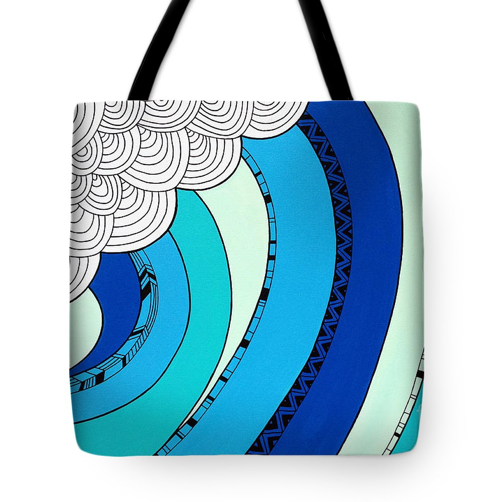 Sun Tote Bag featuring the digital art The Curl by MGL Meiklejohn Graphics Licensing