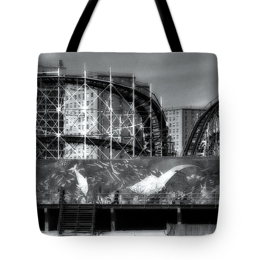 Cyclone Tote Bag featuring the photograph The Cyclone by Jeff Breiman