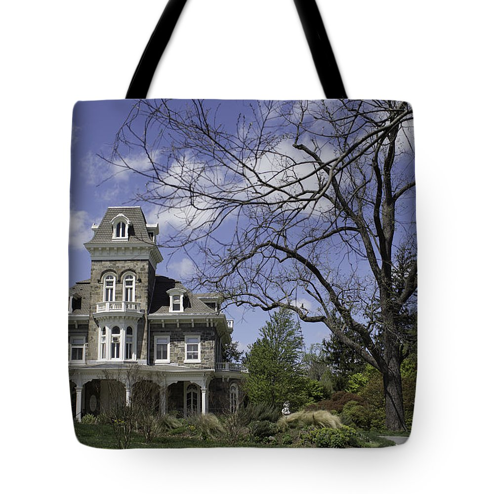Mansion Tote Bag featuring the photograph The Cylburn Mansion by Arlene Carmel