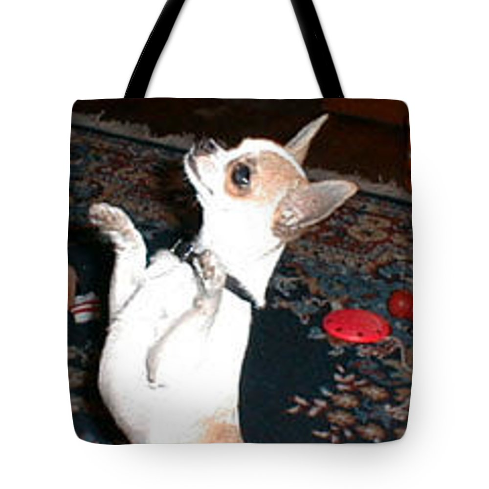Chihuahua Tote Bag featuring the photograph The Dance by Leah Delano