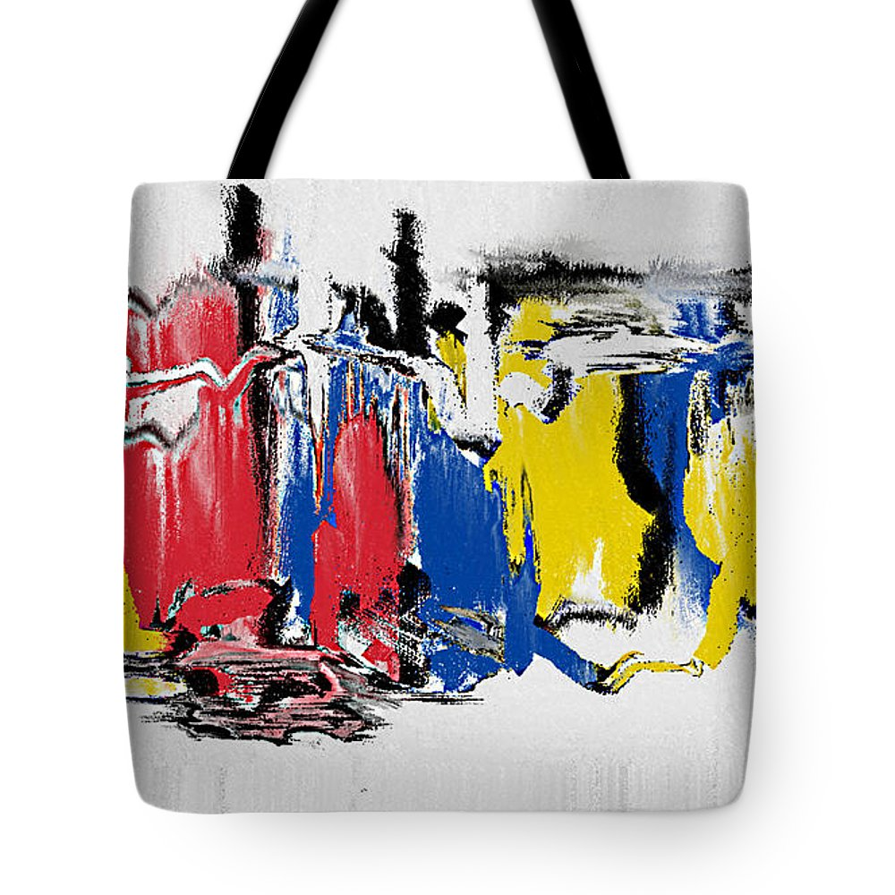 The Dance Tote Bag featuring the painting The Dance by Roz Abellera