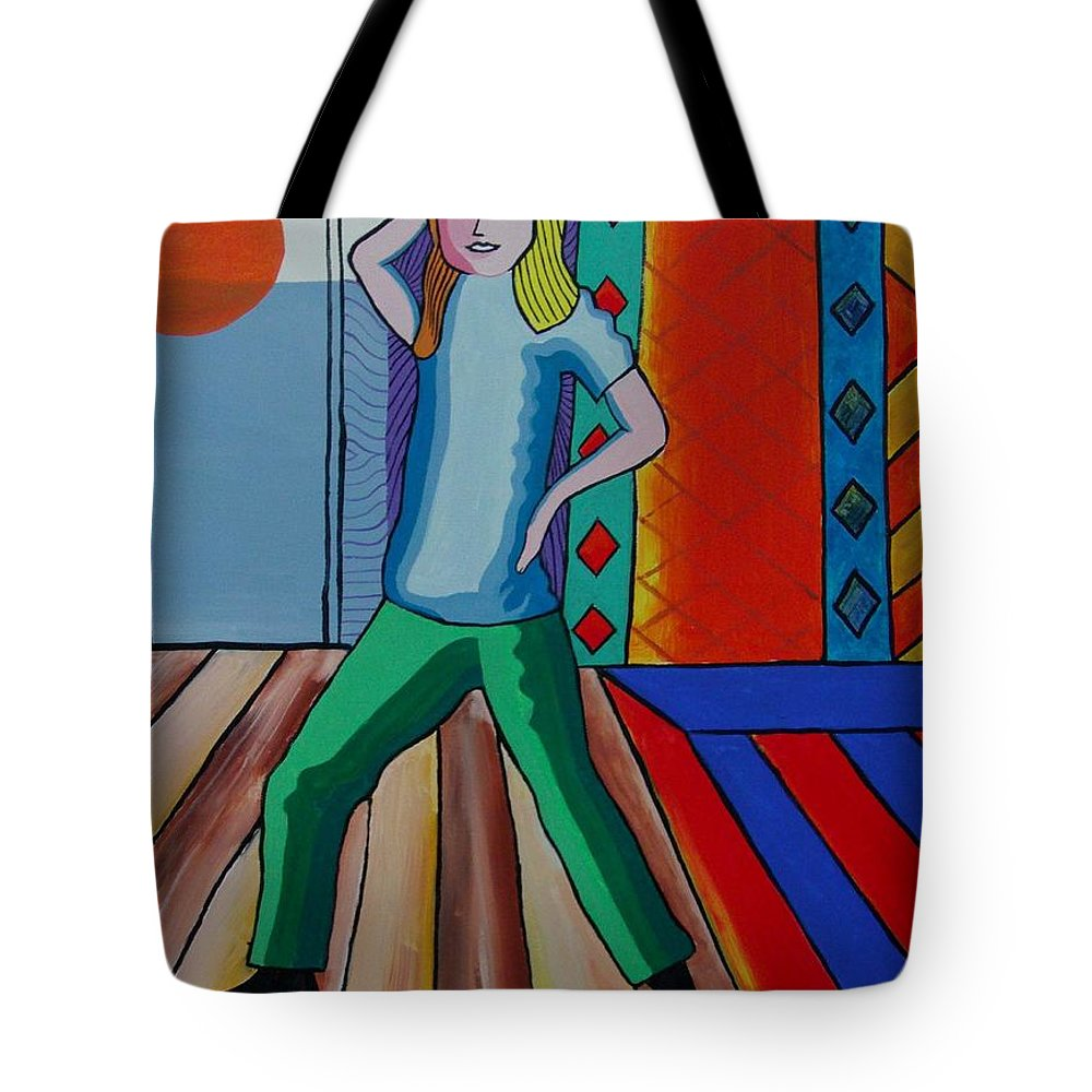 Dancer. Picasso Tote Bag featuring the painting The Dancer by Gary Hogben
