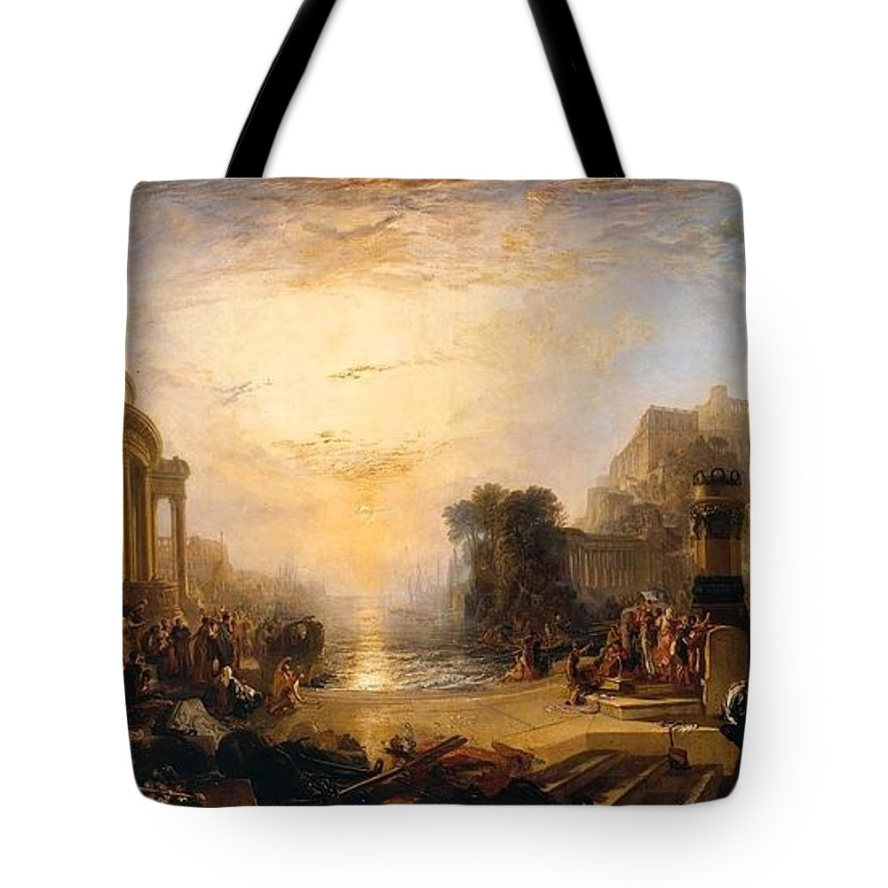 1817 Tote Bag featuring the painting The Decline Of The Carthaginian Empire by JMW Turner