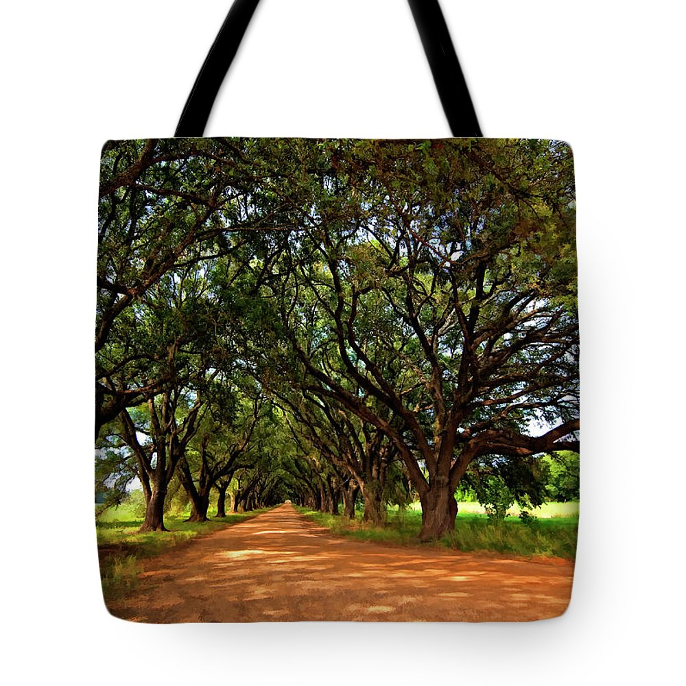 Evergreen Plantation Tote Bag featuring the photograph The Deep South by Steve Harrington