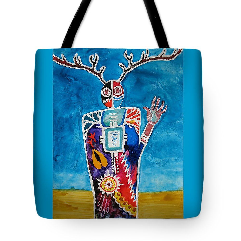 Cat Athena Louise Paintings Tote Bag featuring the painting The Desert Is Calling You by Catherine Athena Louise