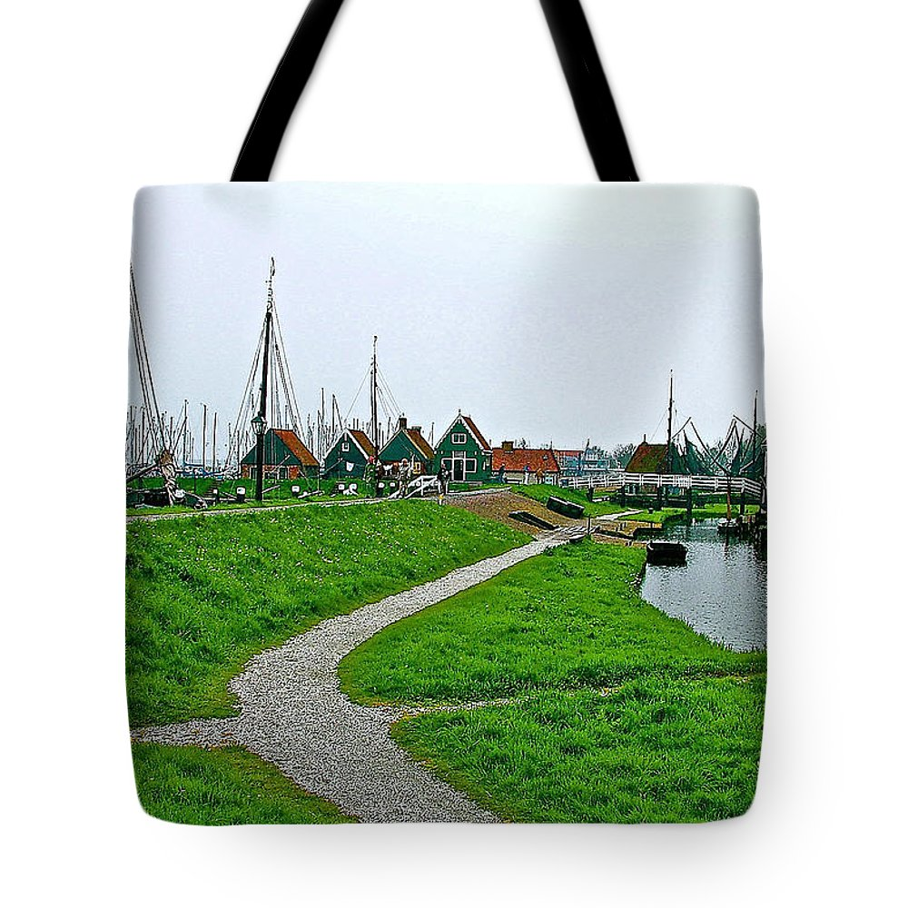 The Dike In Enkhuizen Tote Bag featuring the photograph The Dike In Enkhuizen-netherlands by Ruth Hager