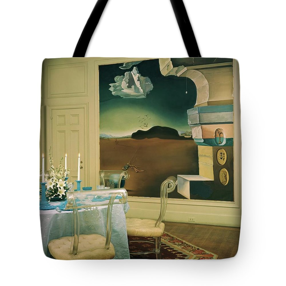 Salvador Dali Tote Bag featuring the photograph The Dining Room Of Princess Gourielli by Haanel Cassidy
