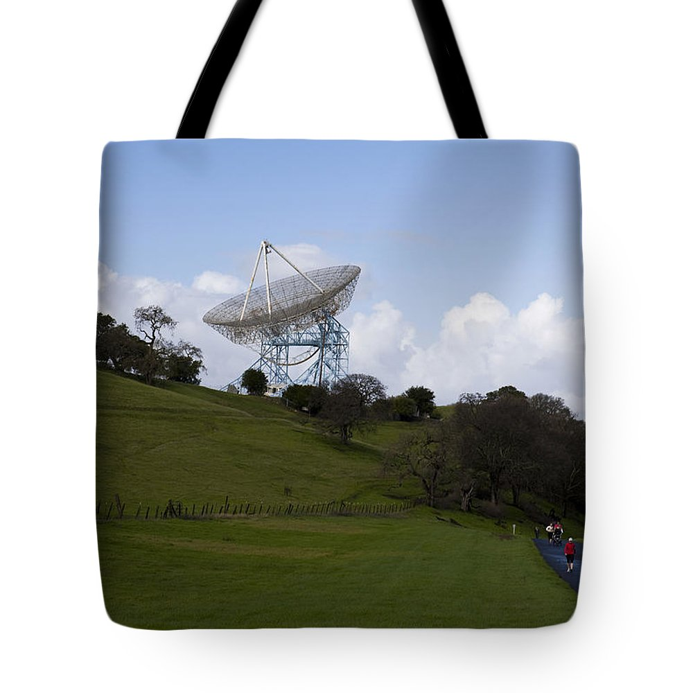 Travel Tote Bag featuring the photograph The Dish Stanford University by Jason O Watson