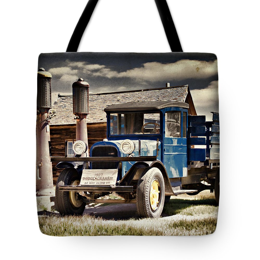 Bodie Tote Bag featuring the photograph The Dodge Graham At Boones by Lana Trussell