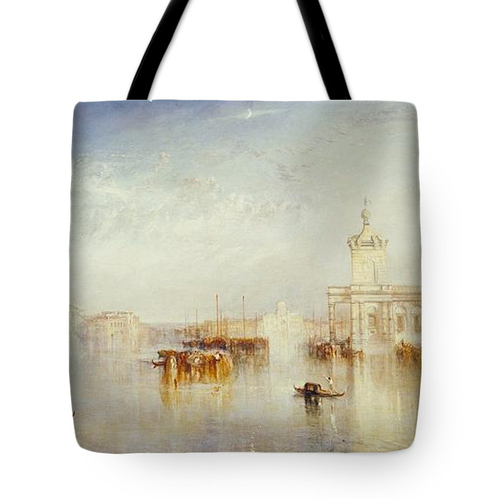 1842 Tote Bag featuring the painting The Dogano by JMW Turner