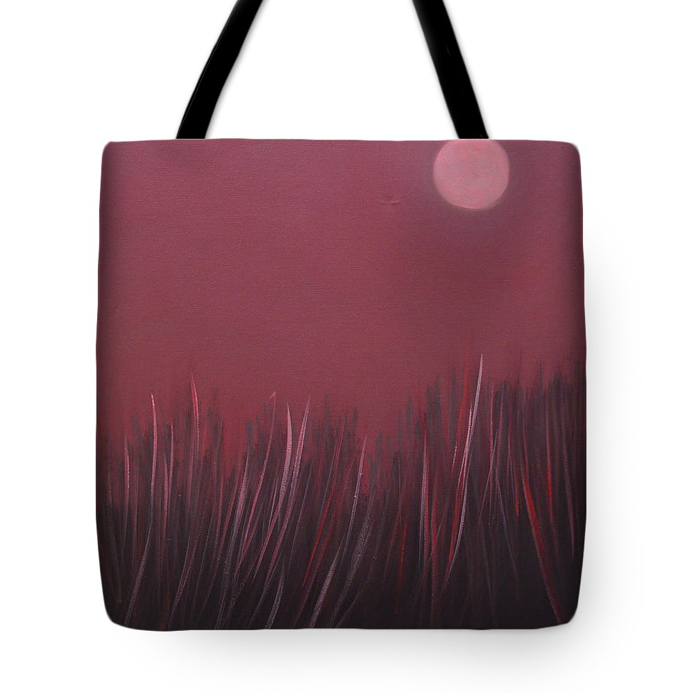 Landscape Tote Bag featuring the painting The dusk by Sergey Bezhinets