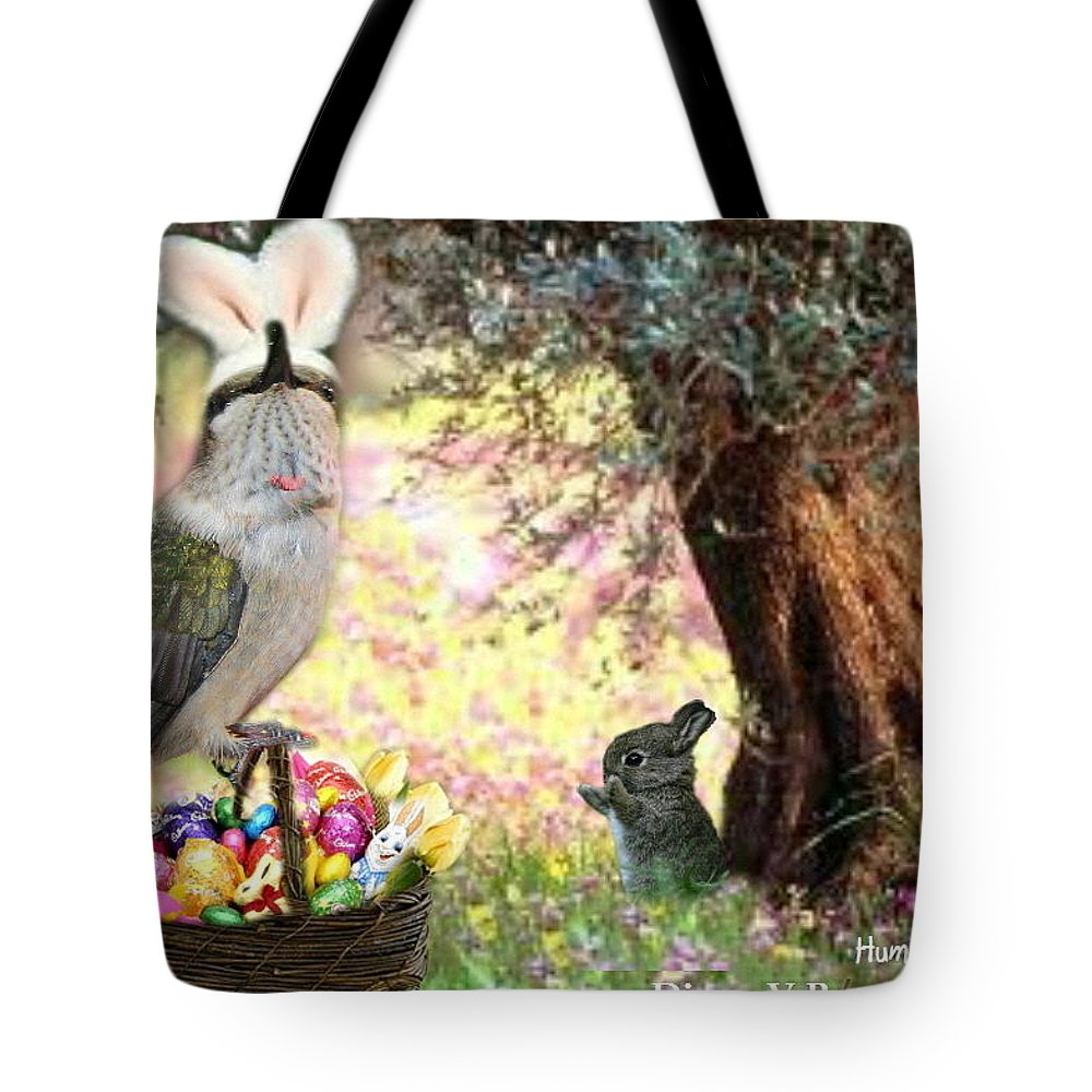 Art Tote Bag featuring the digital art The Easter Hummer by Diane V Bouse