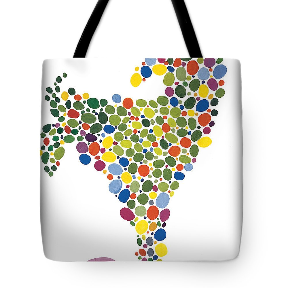 Contemporary Tote Bag featuring the painting The Egg by Bjorn Sjogren