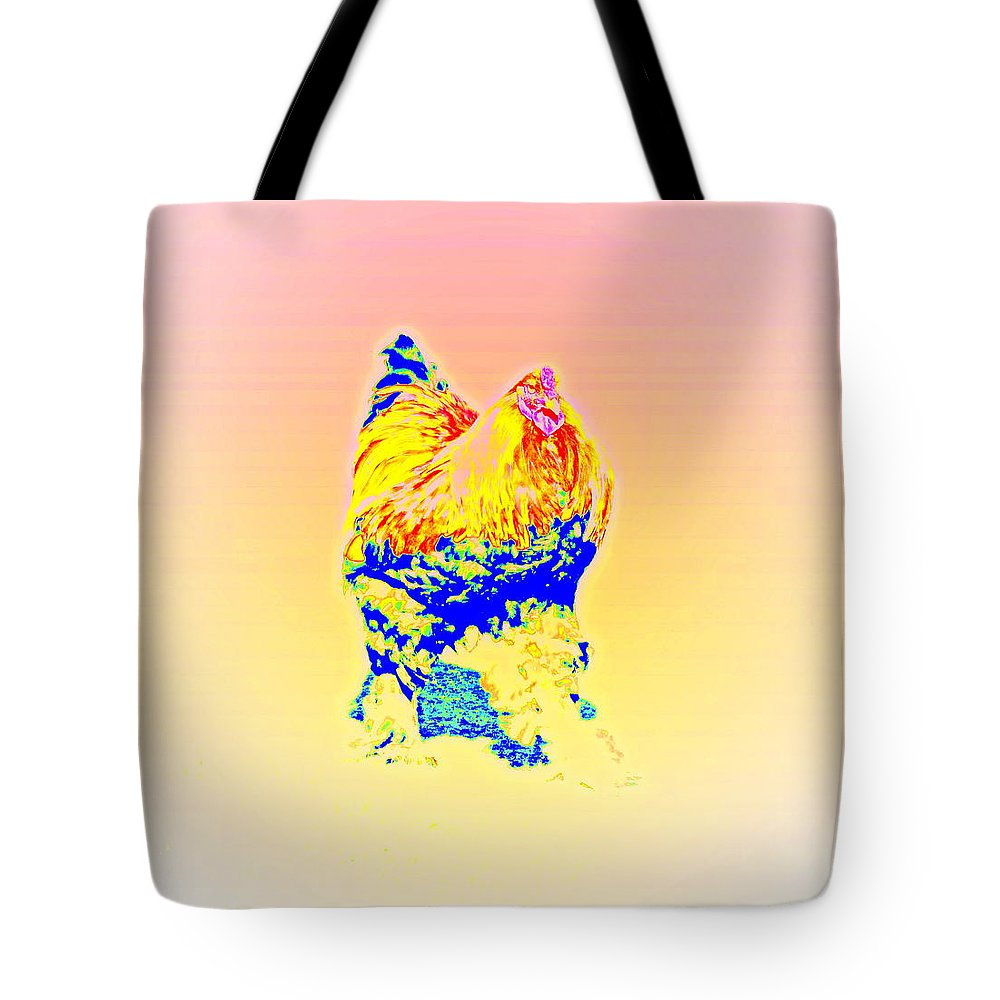 Bird Tote Bag featuring the photograph The Egg Warmer Is Flying Again by Hilde Widerberg