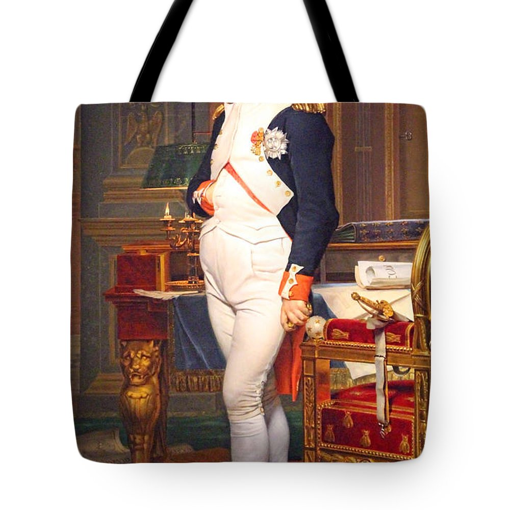 The Tote Bag featuring the photograph The Emperor Napoleon In His Study At The Tuileries By Jacques Louis David by Cora Wandel