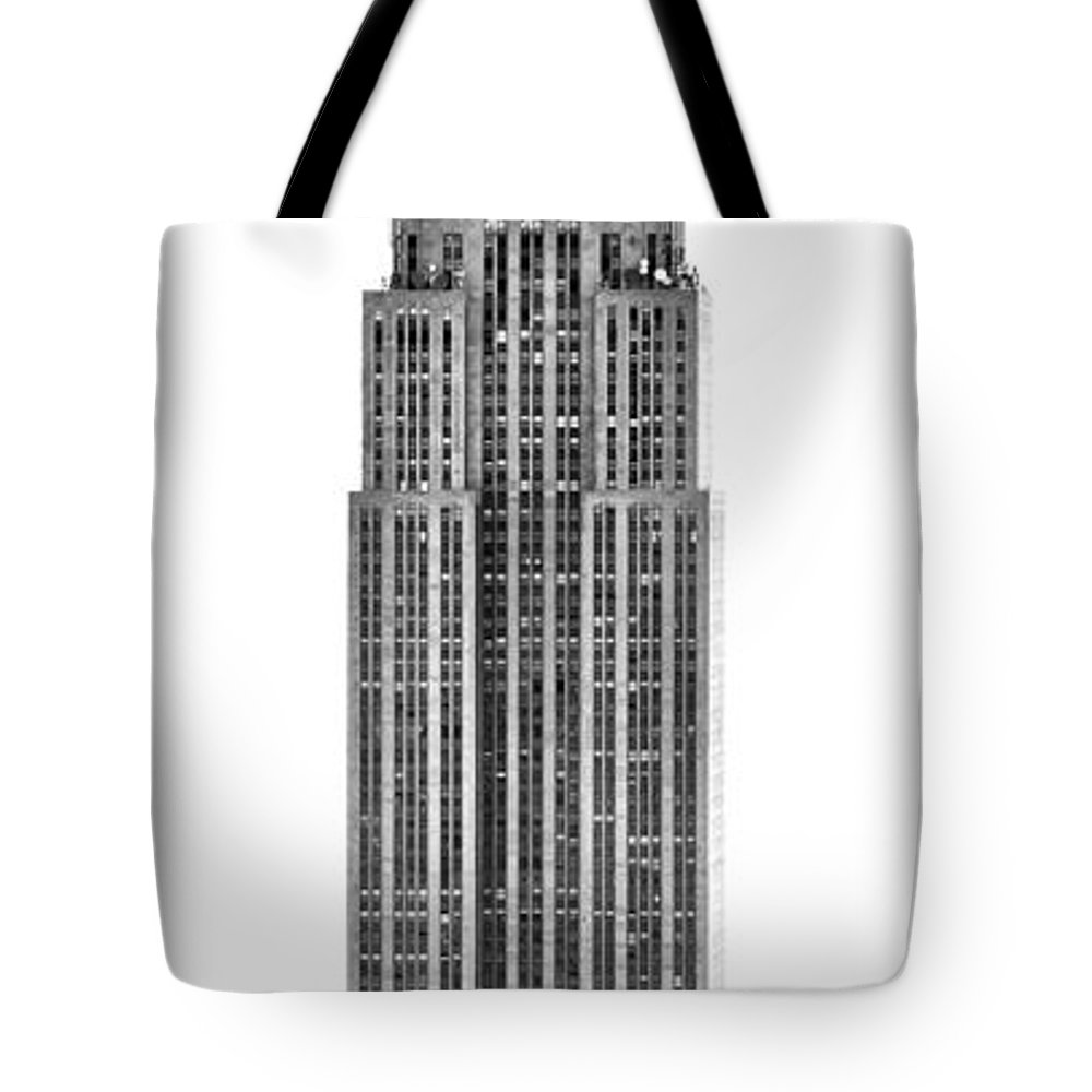 America Tote Bag featuring the photograph The Empire State Building by Luciano Mortula