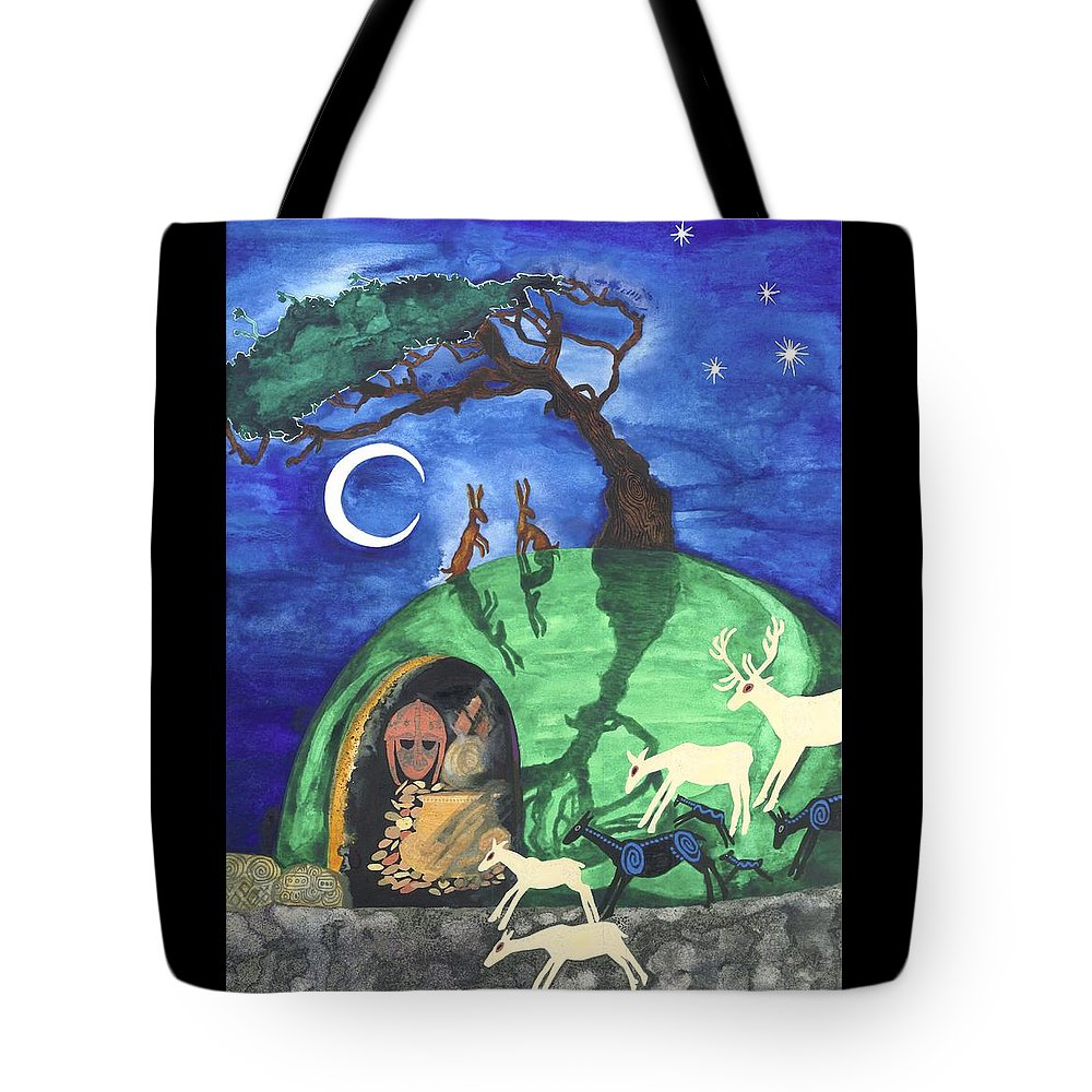 Cat Athena Louise Paintings Tote Bag featuring the painting The Enchantment by Catherine Athena Louise