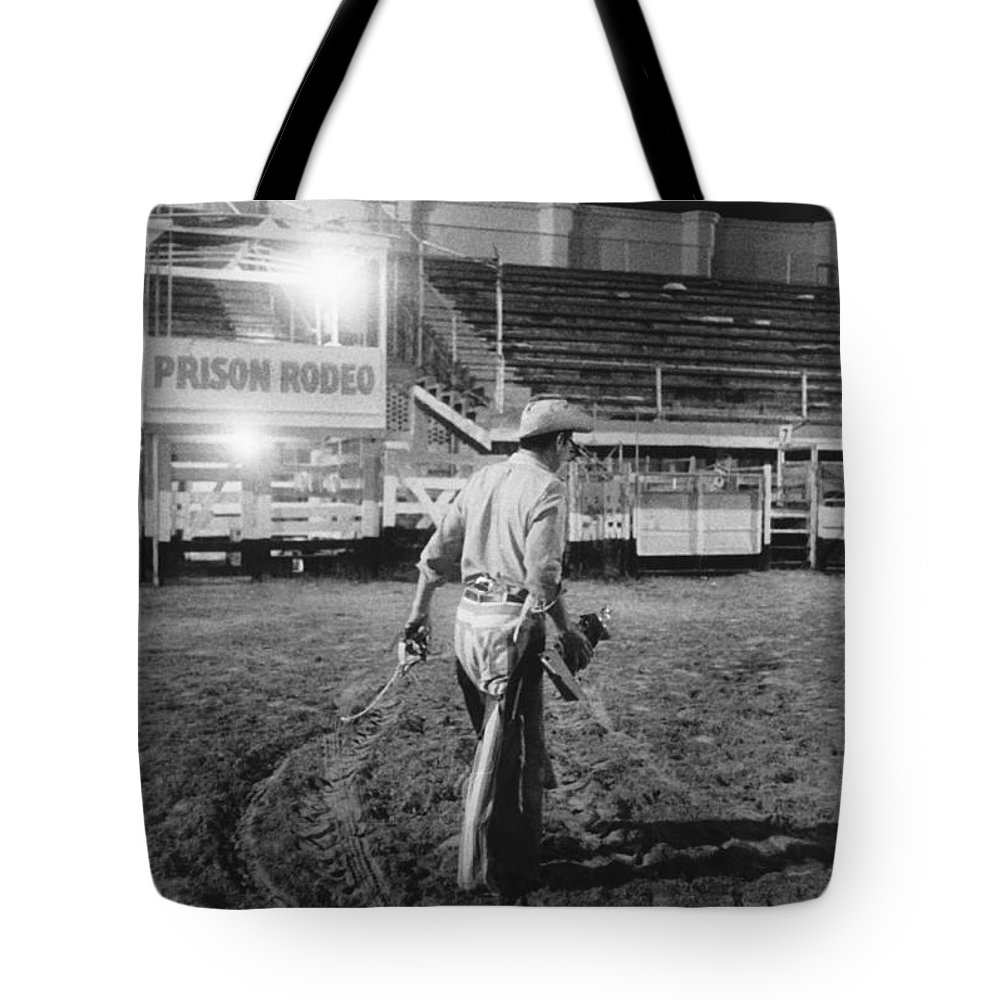 1960s Tote Bag featuring the photograph The End Of The Rodeo by Underwood Archives