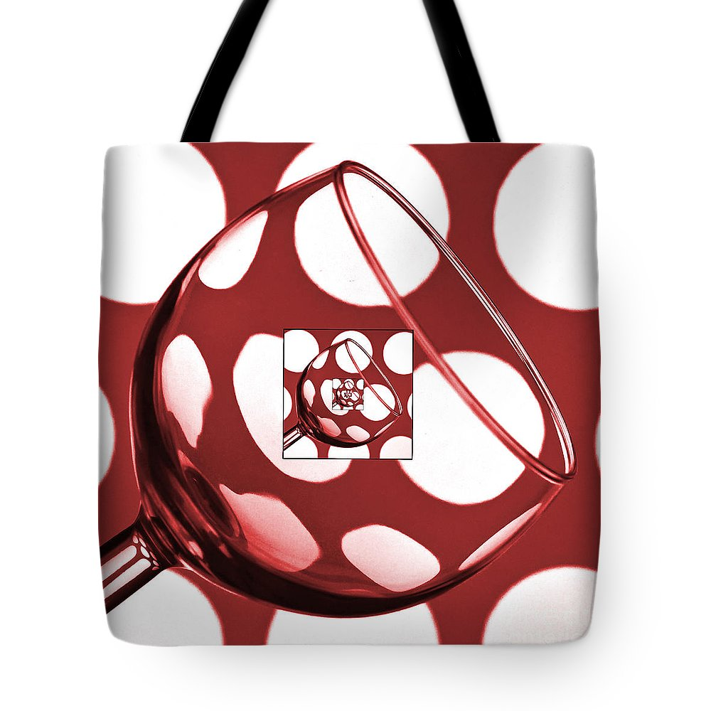 Wine Glass Tote Bag featuring the photograph The Eternal Glass Red by Steve Purnell