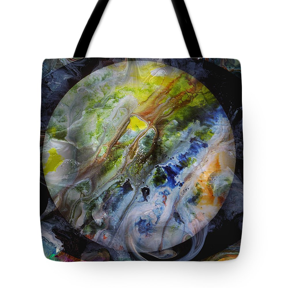 Surrealism Tote Bag featuring the digital art The Eye Of Silence by Otto Rapp