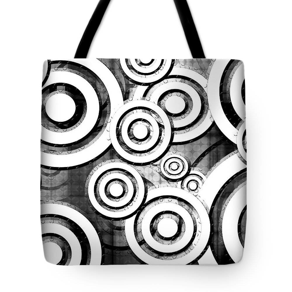 Black And White Tote Bag featuring the digital art The Eyes Have It - Dramatic Film Noir Version by Shawna Rowe