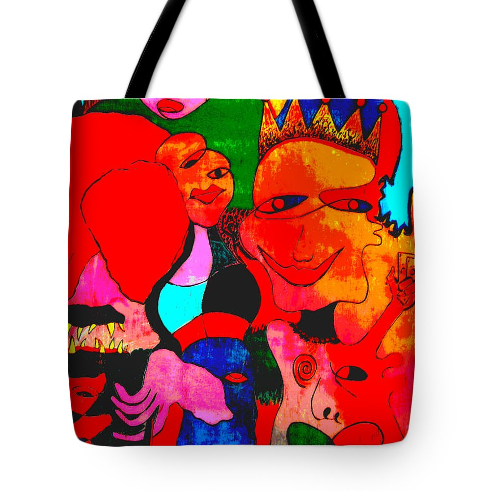 Venice Cafe' Tote Bag featuring the photograph The Eyes Upon Us Painted by Kelly Awad