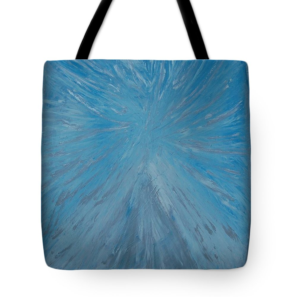 Blue Tote Bag featuring the painting The Fairy by Sirenes
