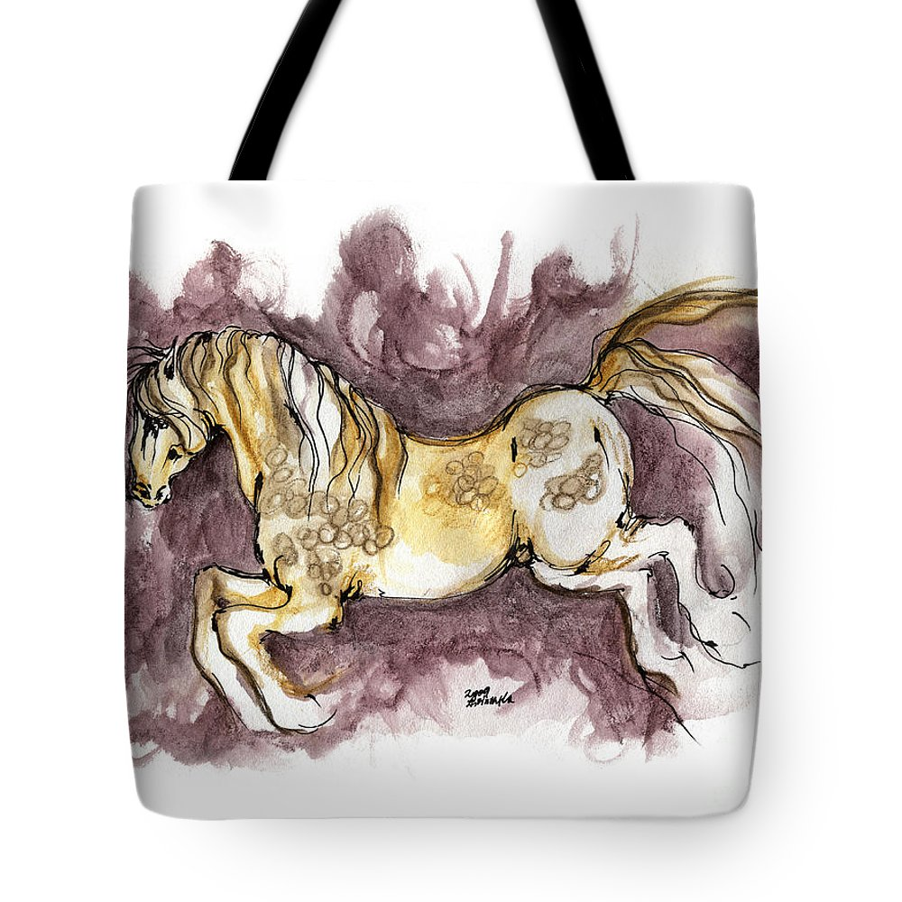 Horse Tote Bag featuring the painting The Fairytale Horse 1 by Angel Ciesniarska