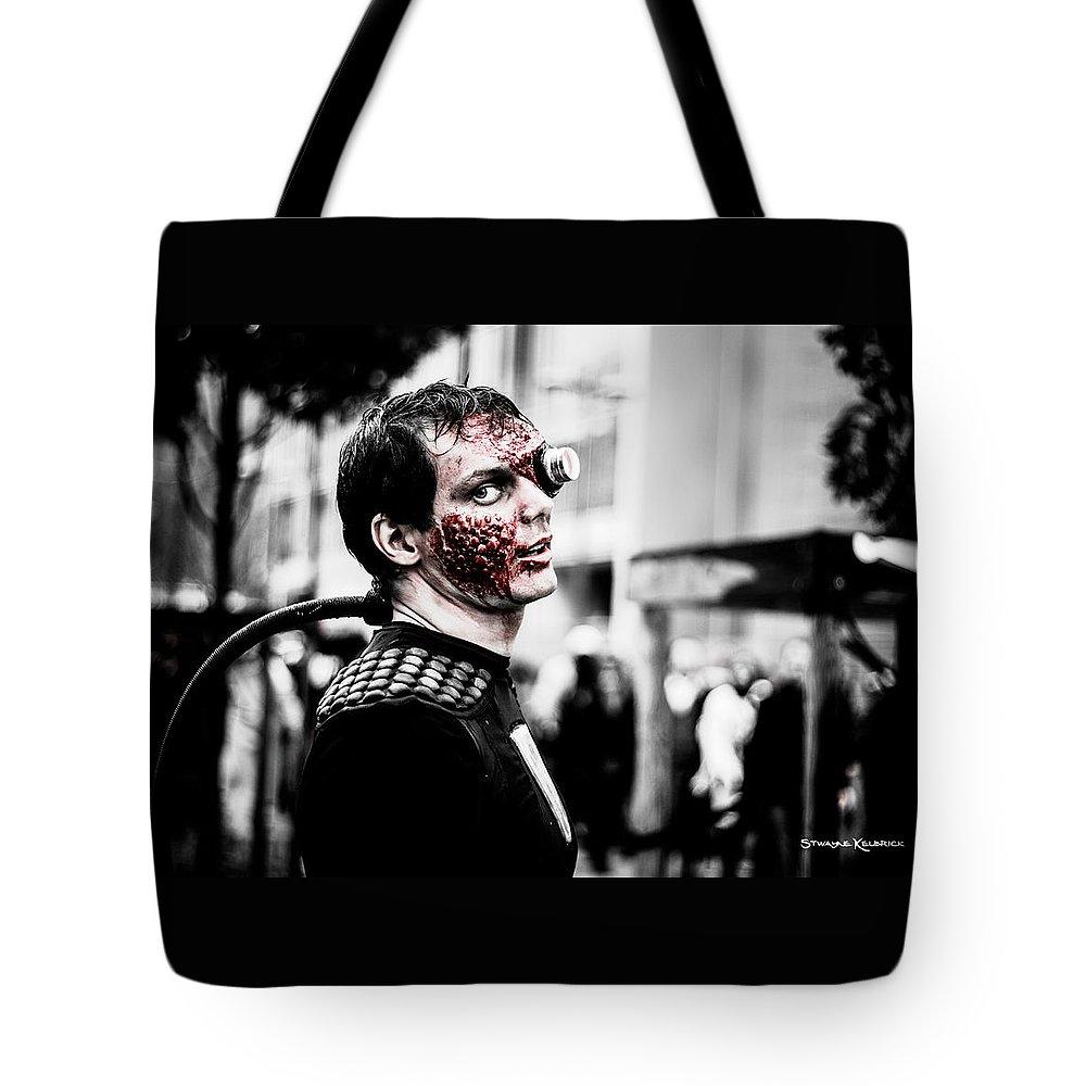 Portrait Tote Bag featuring the photograph The Fake Zombie Robot by Stwayne Keubrick