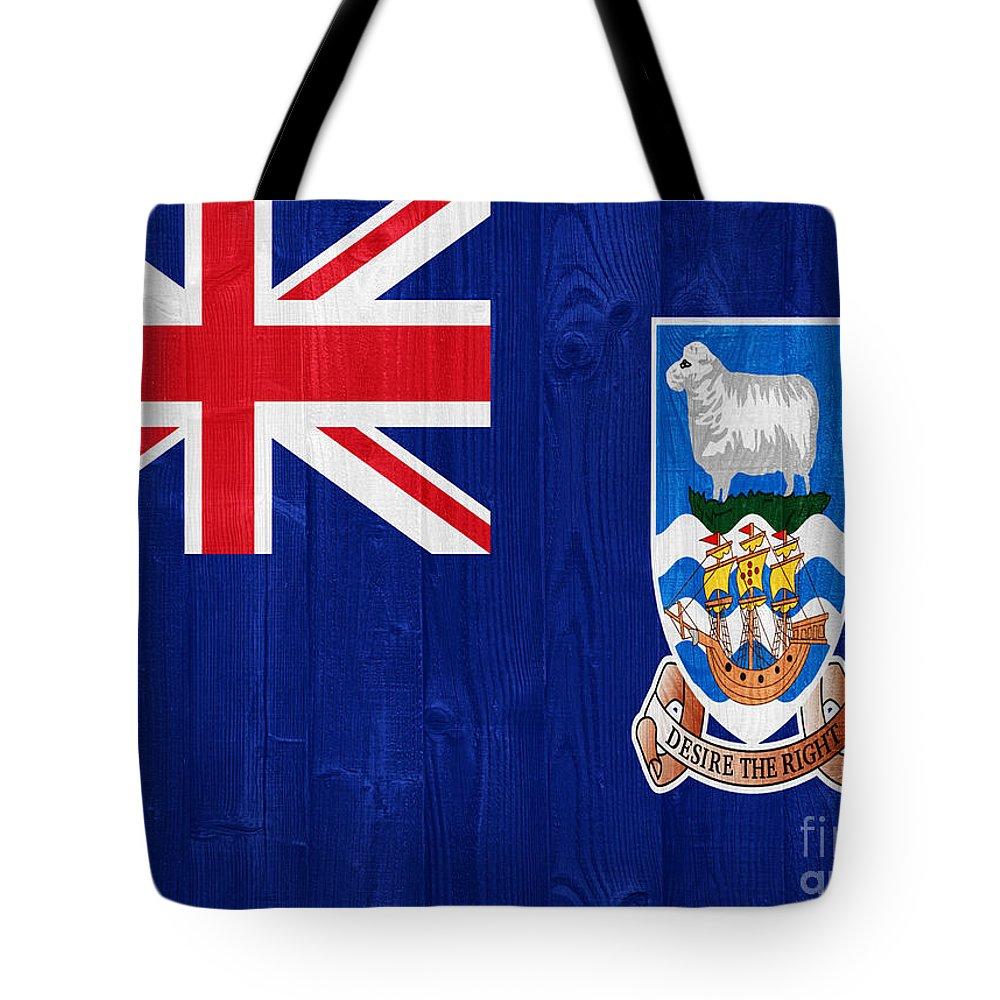Falkland Tote Bag featuring the photograph The Falkland Islands Flag by Luis Alvarenga
