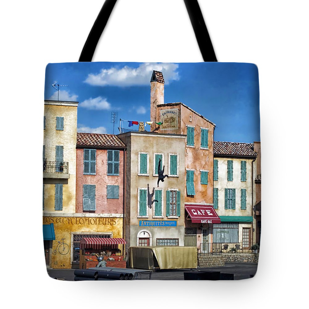 Extreme Stunt Show Tote Bag featuring the photograph The Fall Extreme Stunt Show 4 Walt Disney World by Thomas Woolworth