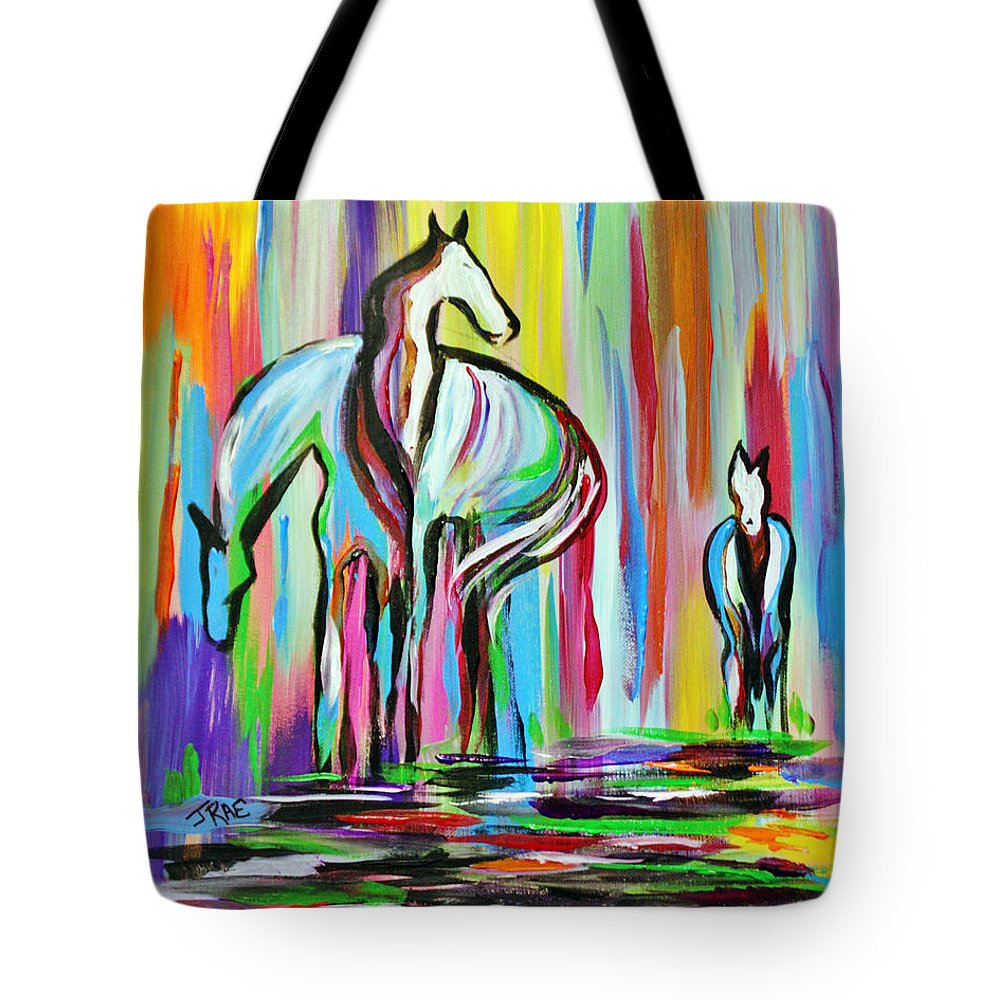 Art Tote Bag featuring the painting The Family by Janice Pariza