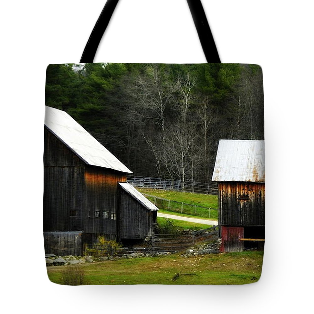 Horse Tote Bag featuring the photograph The Farm by Marysue Ryan