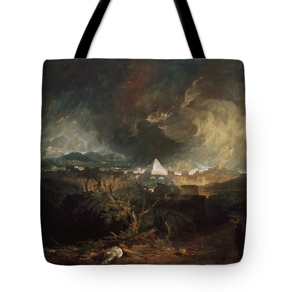 1800 Tote Bag featuring the painting The Fifth Plague Of Egypt by JMW Turner