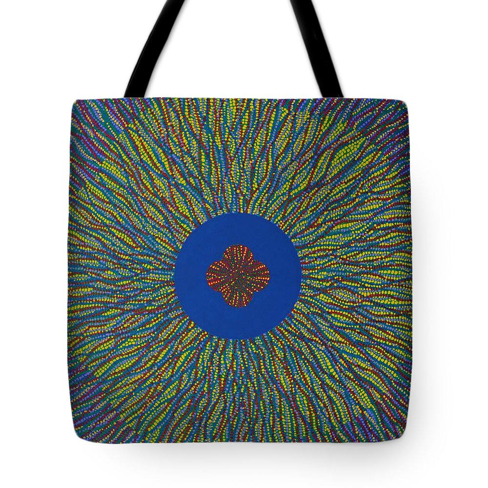 Flower Tote Bag featuring the painting The Flower 3 by Kyung Hee Hogg