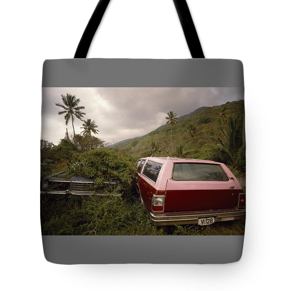 Car Tote Bag featuring the photograph The Forsaken Cars by Shaun Higson