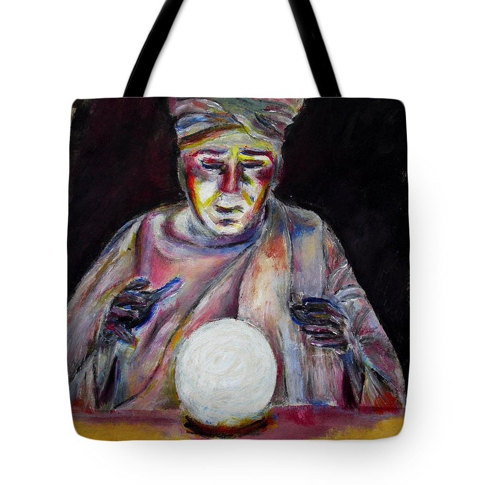 Fortune Tellers Tote Bag featuring the painting The Fortune Teller by Tom Conway