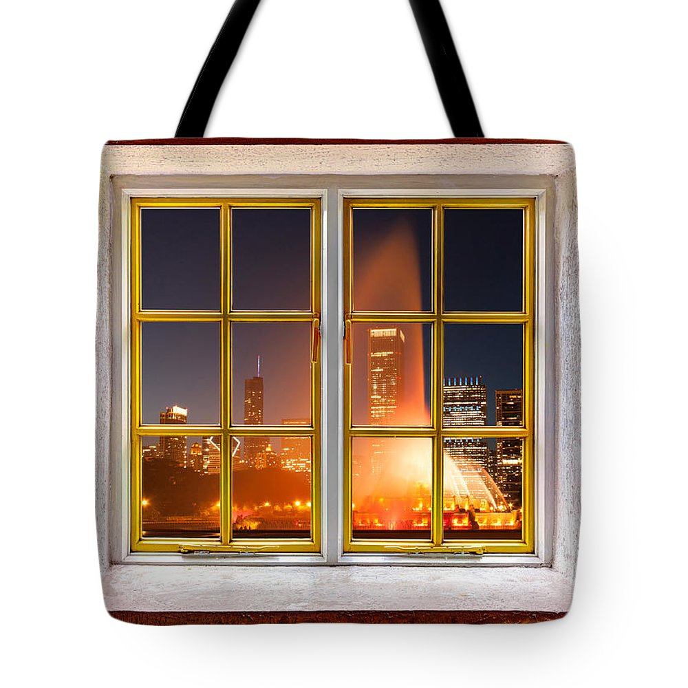 Activity Tote Bag featuring the photograph The Fountain by Semmick Photo