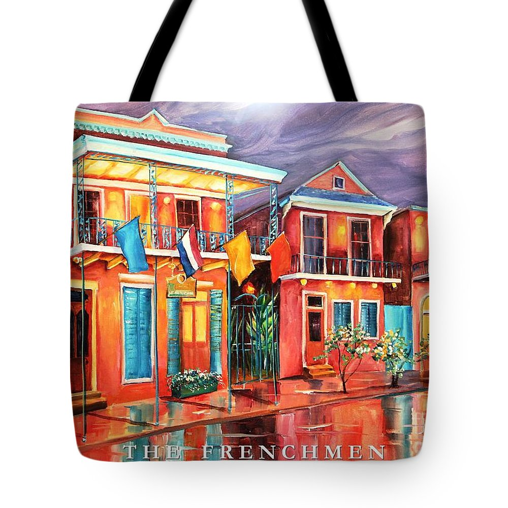 New Orleans Tote Bag featuring the painting The Frenchmen Hotel New Orleans by Diane Millsap